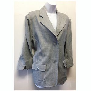 Alfred Dunner | Gray Textured Double Button Jacket